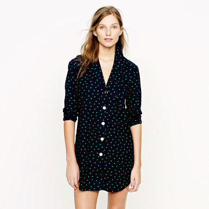 Nightshirt in polka-dot flannel