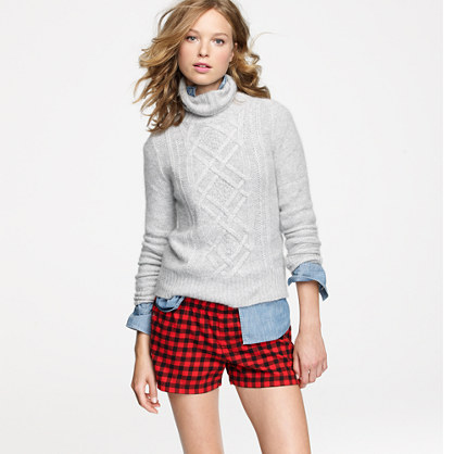 Flannel boxers in gingham