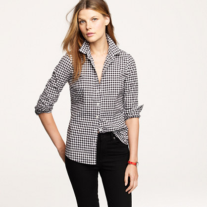 Petite perfect shirt in gingham