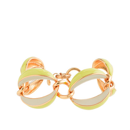 Twisted enamel link bracelet