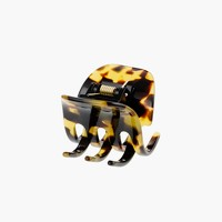Classic hair clip in Italian tortoise