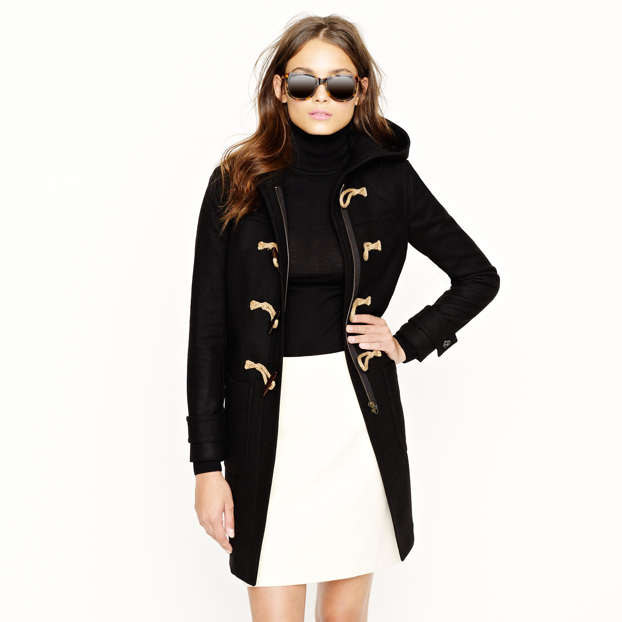 Toggle coat in wool-cashmere with Thinsulate® : Women jackets ...