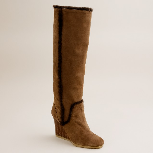Charley shearling wedge boots