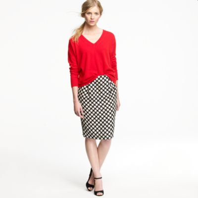 Polka-dot pencil skirt : Women pencil | J.Crew