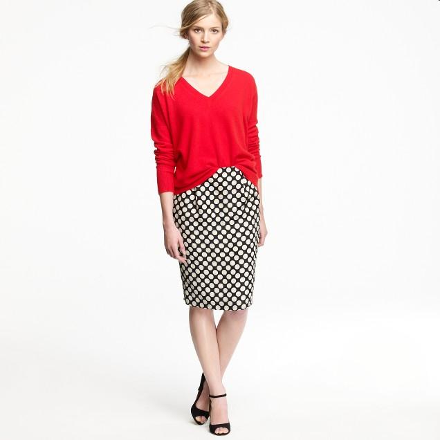 Polka-dot pencil skirt : Women pencil | J.Crew