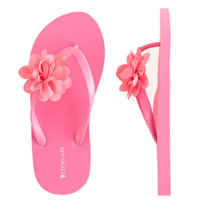 Girls' blossom flip-flops