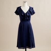 Regine dress in silk charmeuse