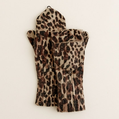 Leopard glittens