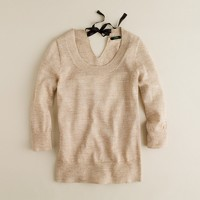 Shimmer bow sweater