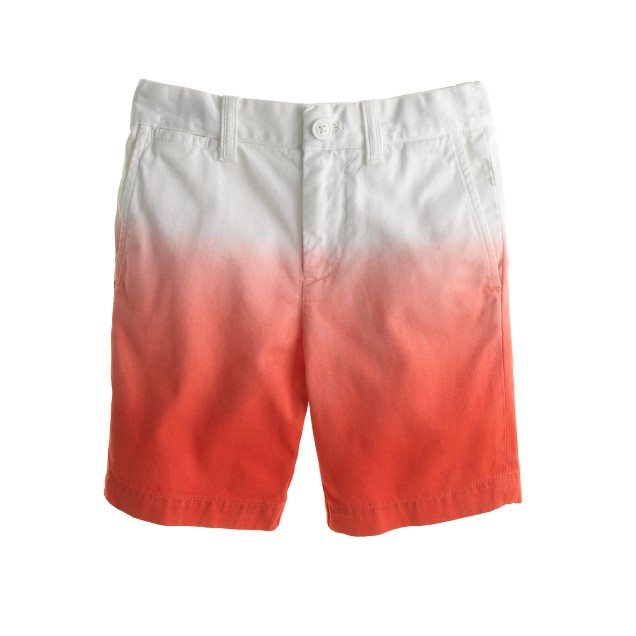 Boys' Stanton short in dip-dyed chino
