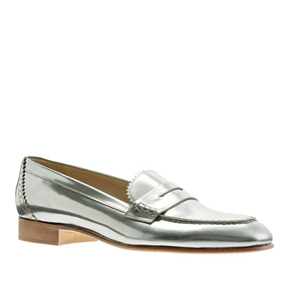Biella metallic penny loafers