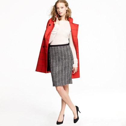 No. 2 pencil skirt in midnight tweed