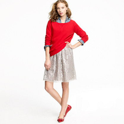Sparkler skirt in tinsel lace