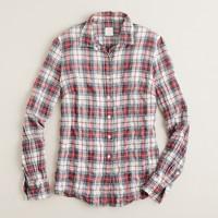 Perfect shirt in suckered tartan