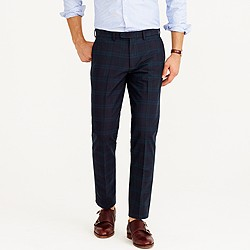 Bowery slim pant in tonal Black Watch cotton