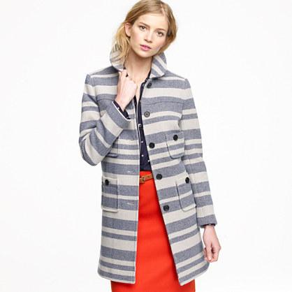 Stadium-cloth engineer coat