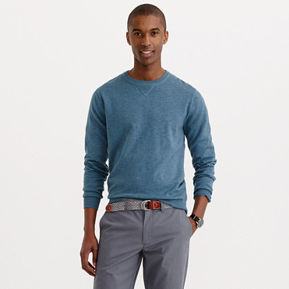 Slim rugged cotton sweatshirt sweater