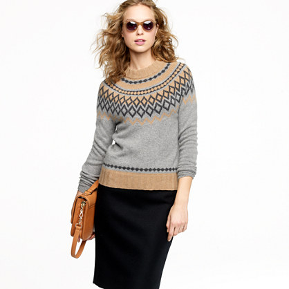 Cashmere Fair Isle sweater : Cashmere Shop