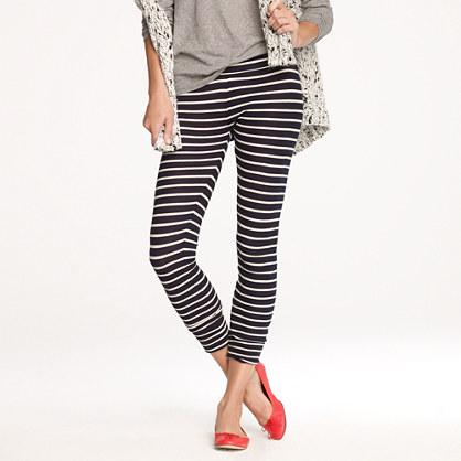 Homestead waffle leggings in stripe