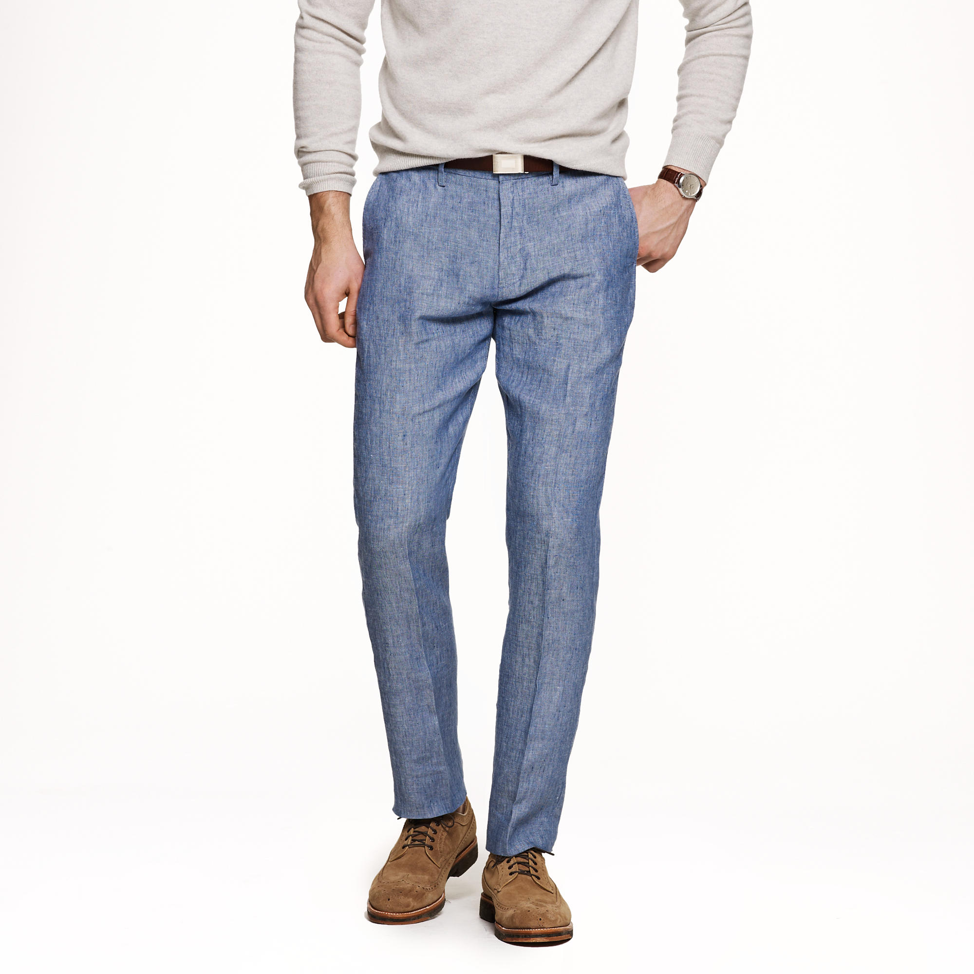Bowery slim in Irish linen : | J.Crew
