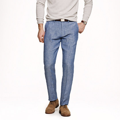 Bowery slim in Irish linen