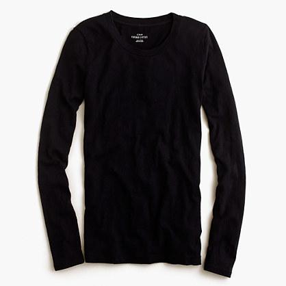 Petite vintage cotton long-sleeve T-shirt