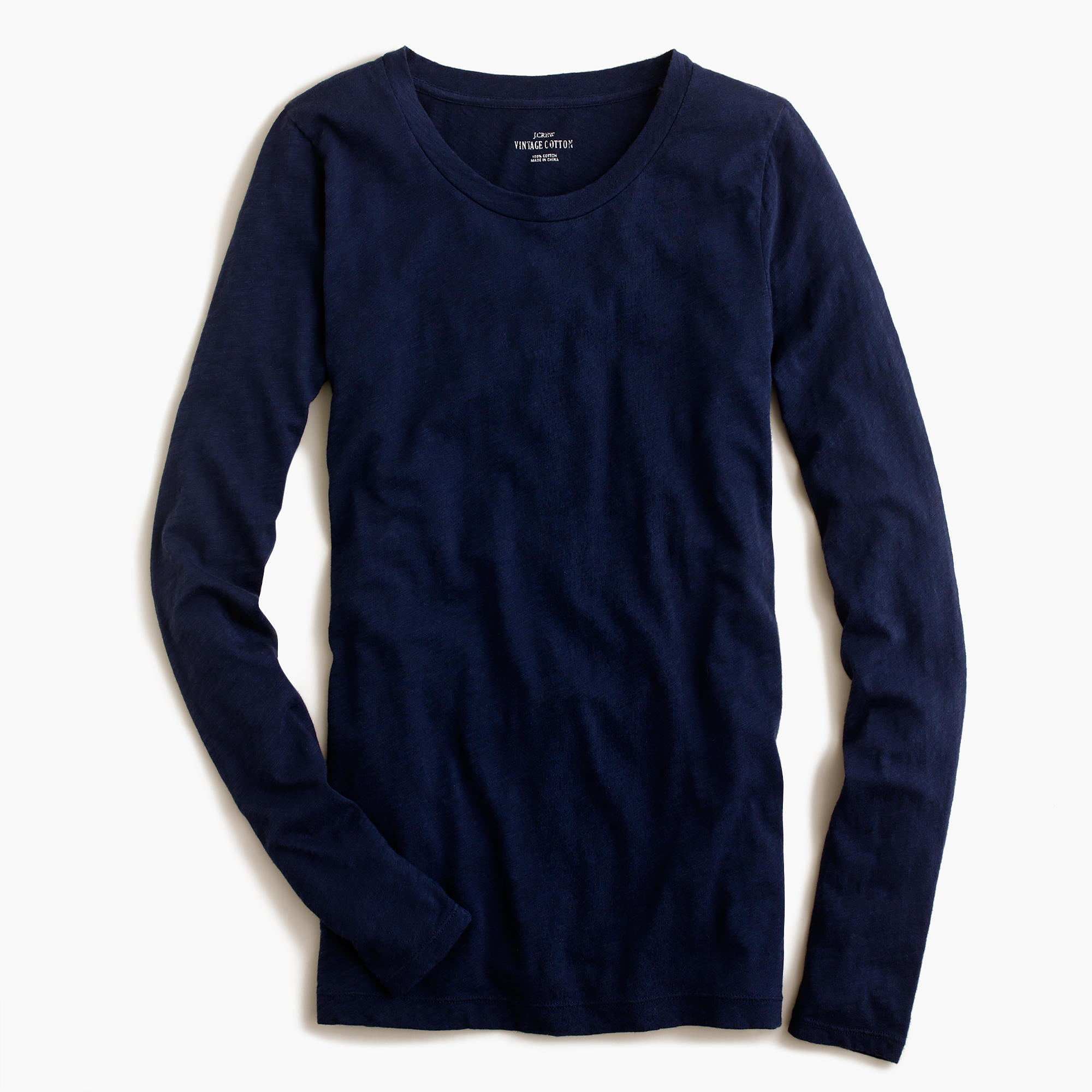 Vintage Cotton Long-Sleeve T-Shirt : Women's Tees | J.Crew