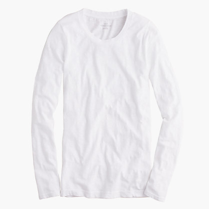Petite vintage cotton long-sleeve T-shirt