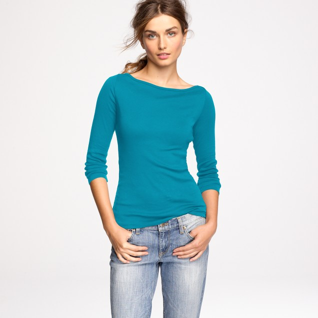 Perfect-fit boatneck tee