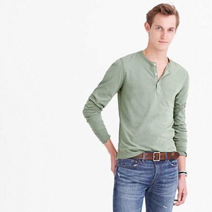 Slim broken-in henley