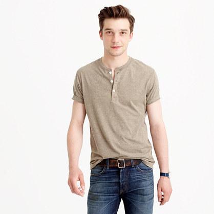 Slim broken-in short-sleeve henley