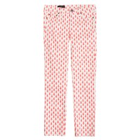 Cropped matchstick jean in thistle print