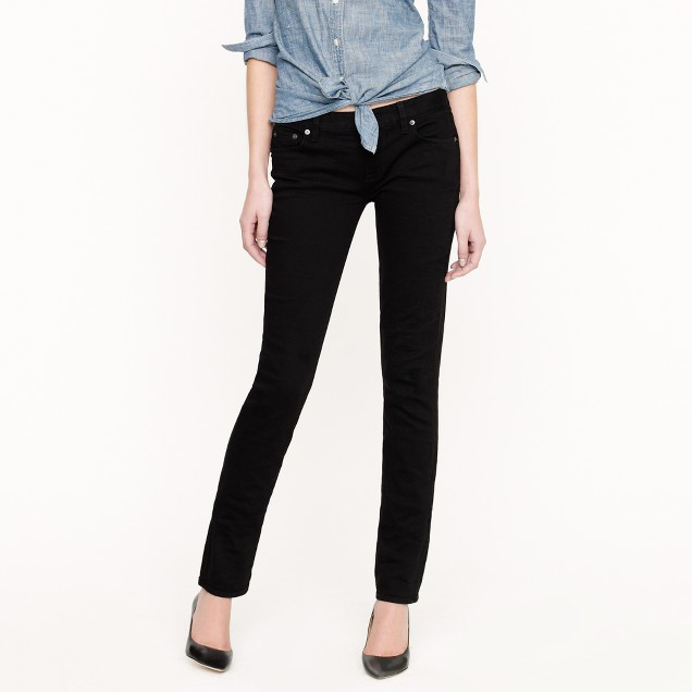 Tall matchstick jean in overdyed black denim