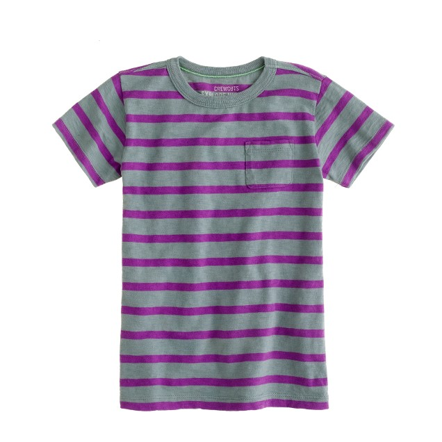 Boys' tee in clubhouse stripe