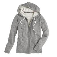 Fleece zip hoodie
