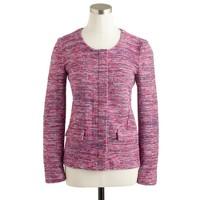 Micro-tweed jacket in poppy