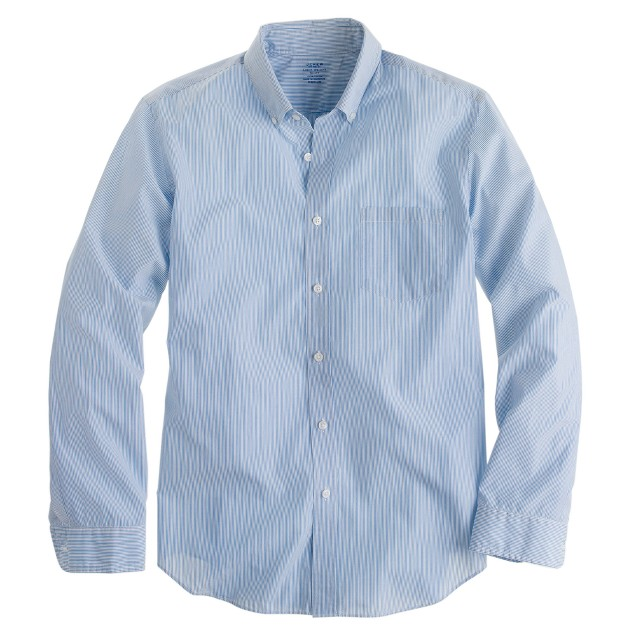 Slim lightweight shirt in pencil stripe