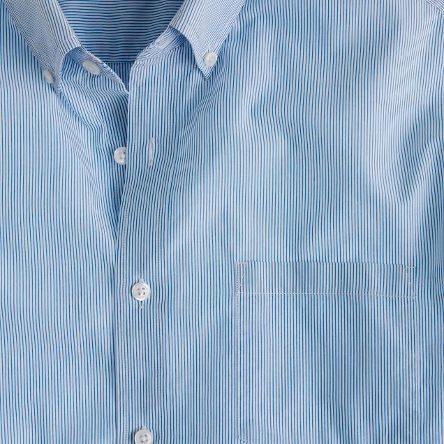 Lightweight shirt in pencil stripe
