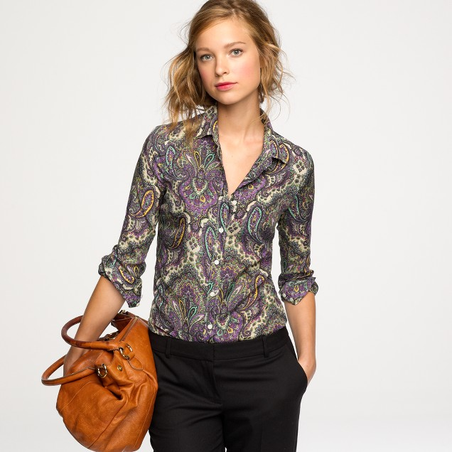 Perfect shirt in royal paisley