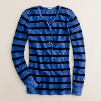 Vintage thermal henley in stripe