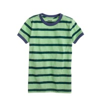 Boys' green stripe tee
