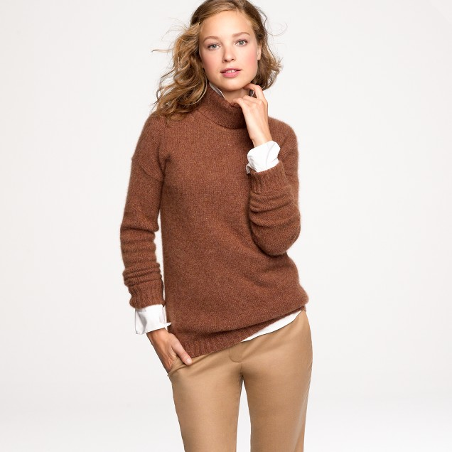 Cashmere-mohair turtleneck sweater