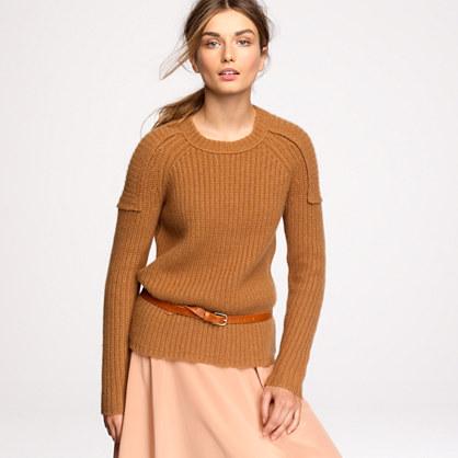 Cashmere epaulet sweater