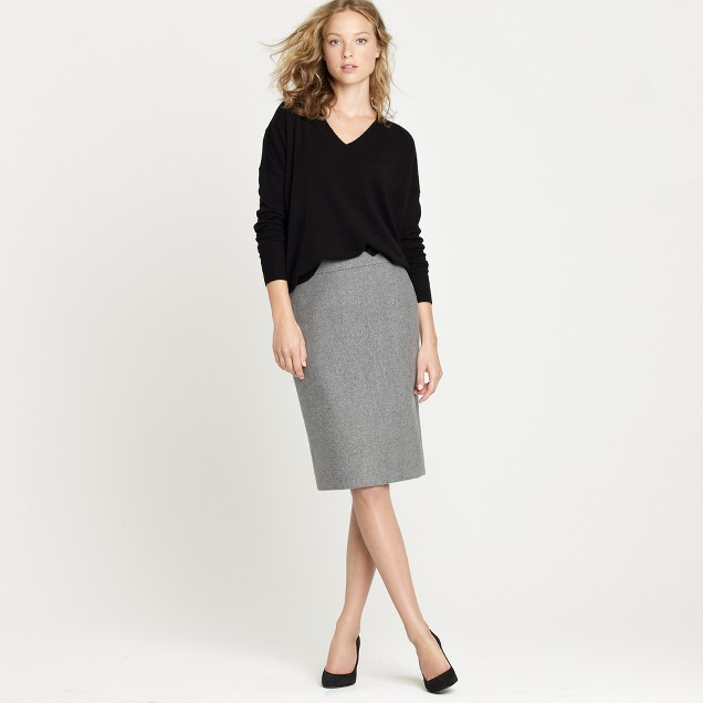 No.2 pencil skirt in speckled wool