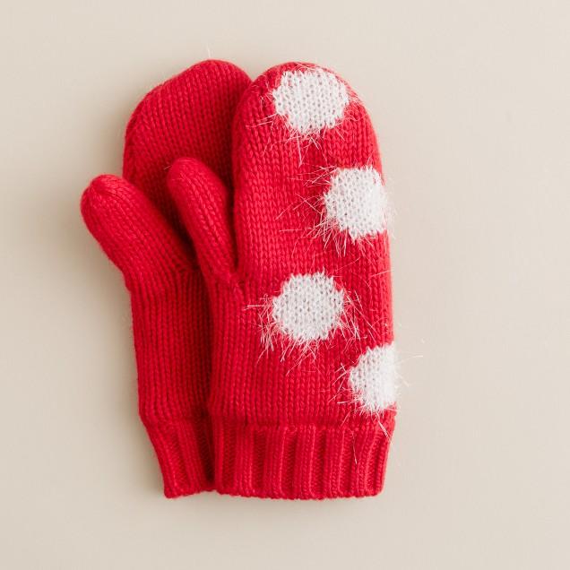 Girls' dream dot mittens