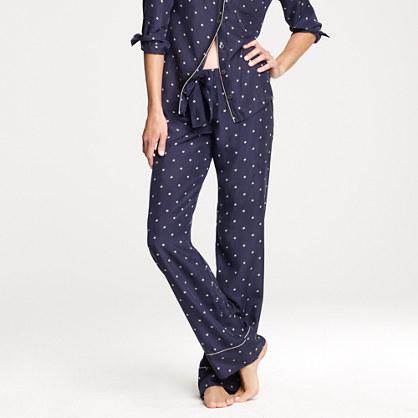 Silk pajama pant in starstruck