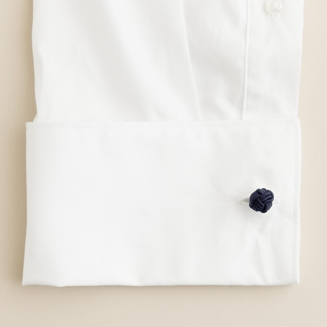 Fabric knot cuff links