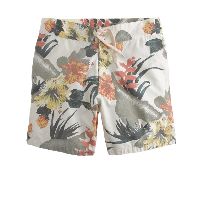 Lightning Bolt® floral pelican swim trunks