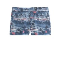 Hawaiian sunset linen short