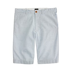 "10.5"" Stanton short in striped Irish cotton-linen"